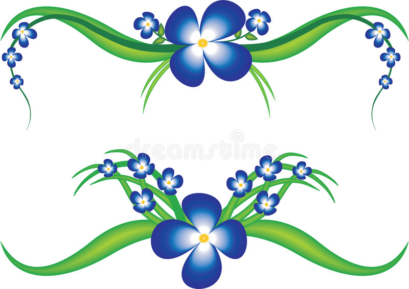 Vector background with flower stock illustration