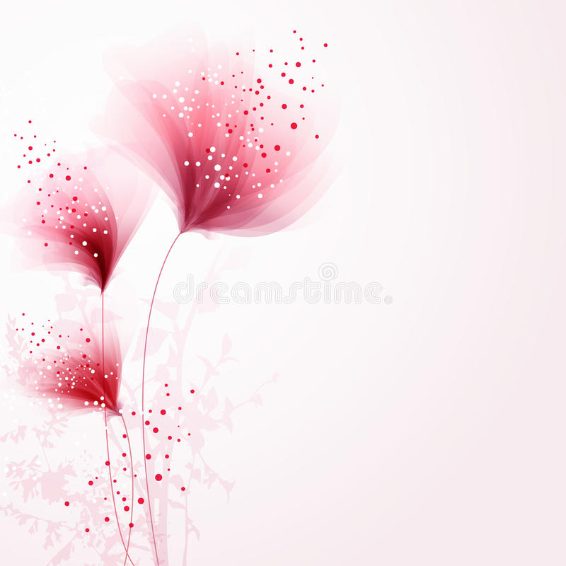 Vector background with flowers stock illustration