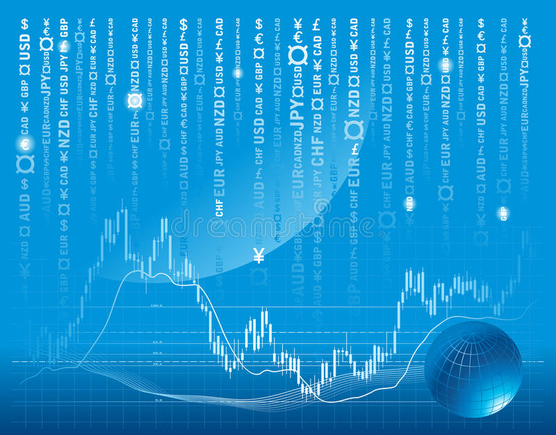 Vector background with forex chart. Vector background with forex or stock exchange chart