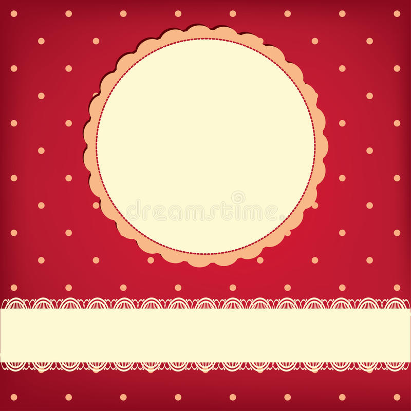 Vector background with frame stock illustration