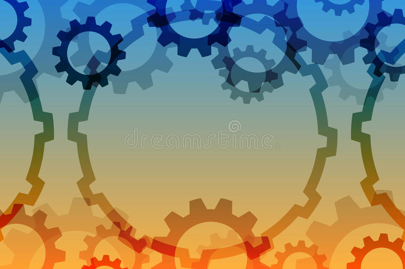 Vector background with a gear element. royalty free stock photography