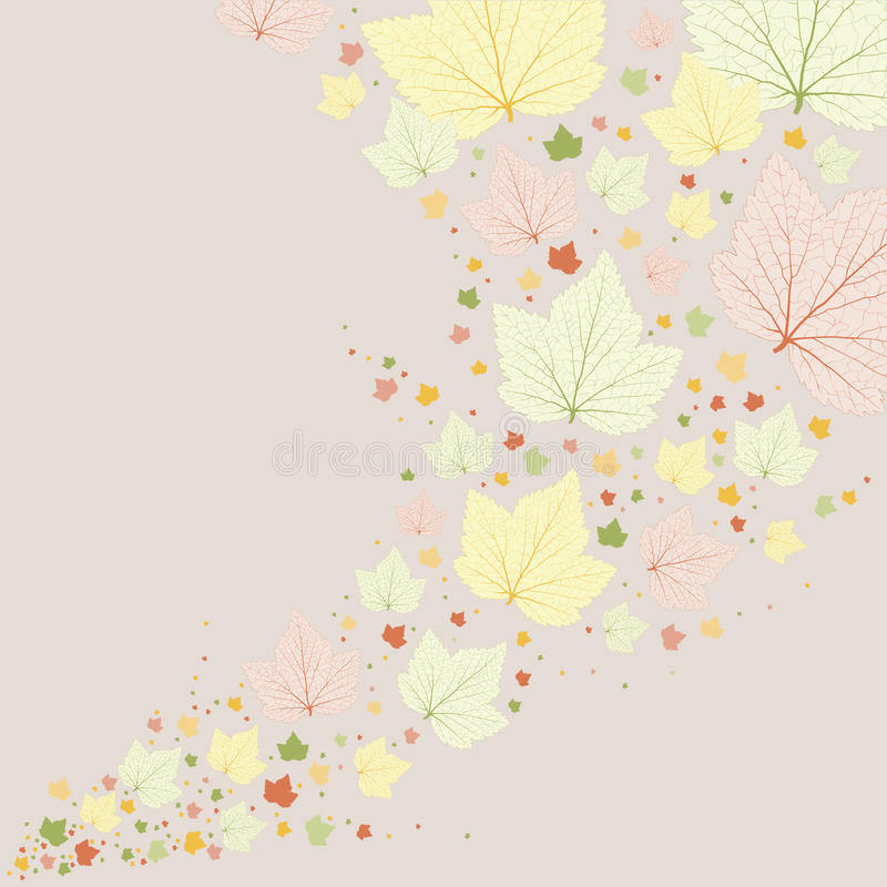Vector background. Green leaves with veins. vector illustration