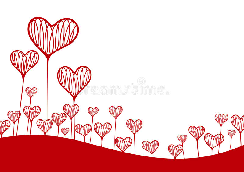 Vector background with hearts stock illustration