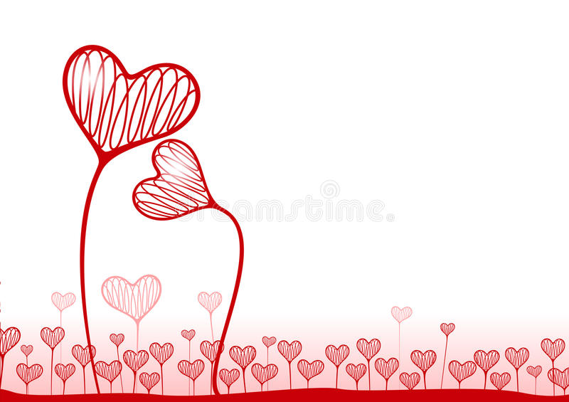 Vector background with hearts vector illustration