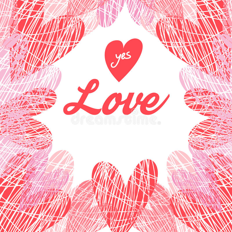 Download Vector Background With Hearts Stock Vector - Illustration of heart, graphic: 83718263