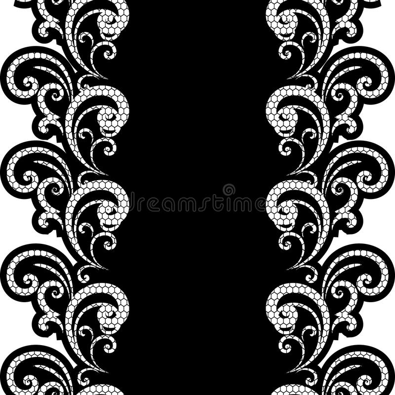 Vector background lace. Black and white stock illustration