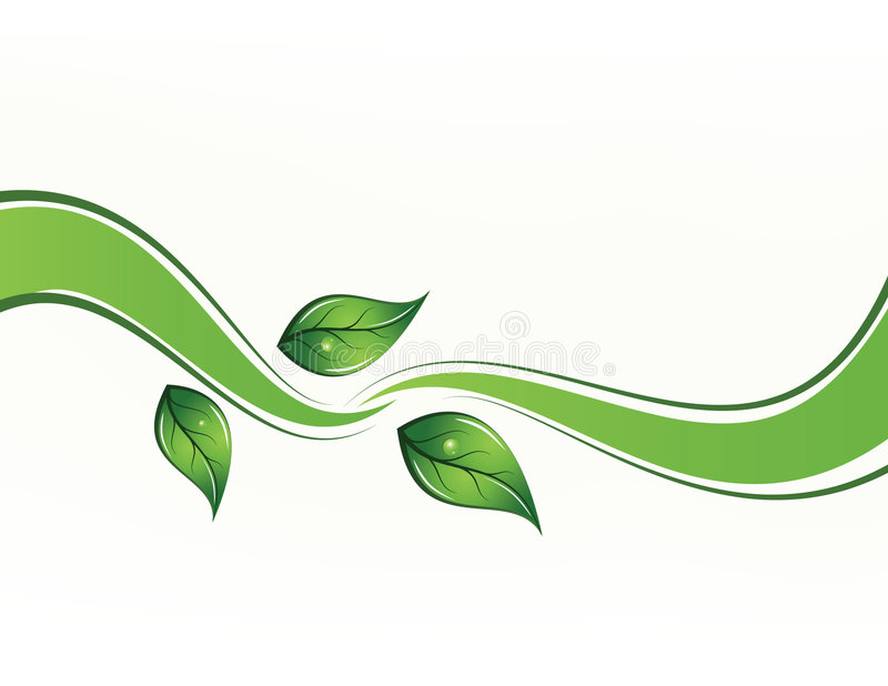 Vector background with leafs stock illustration