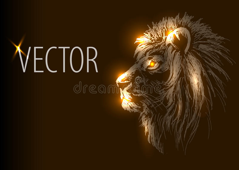 Vector background with lion head vector illustration