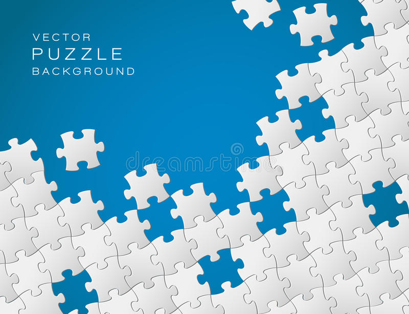Vector background made from puzzle stock illustration