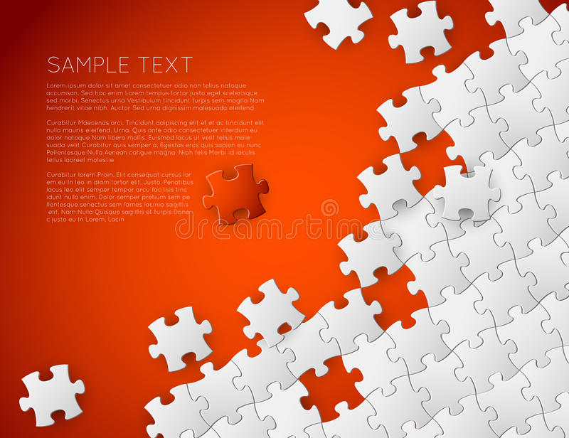 Vector background made from white puzzle pieces vector illustration