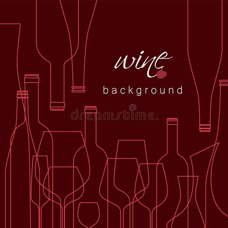 Vector background for menu, tasting, wine card. royalty free stock photography