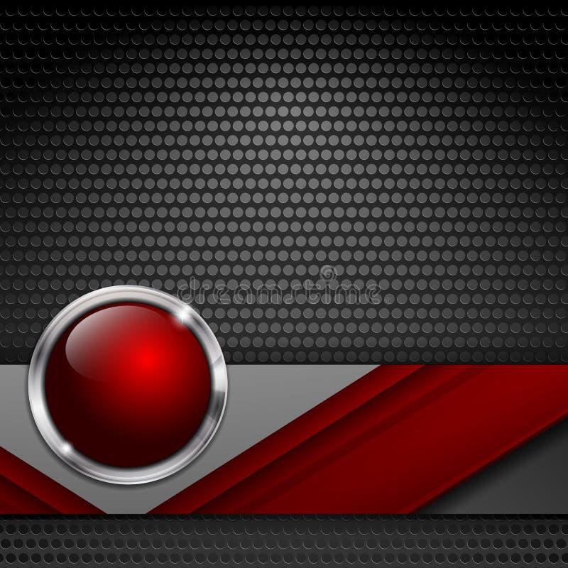 Vector background with metallic texture vector illustration