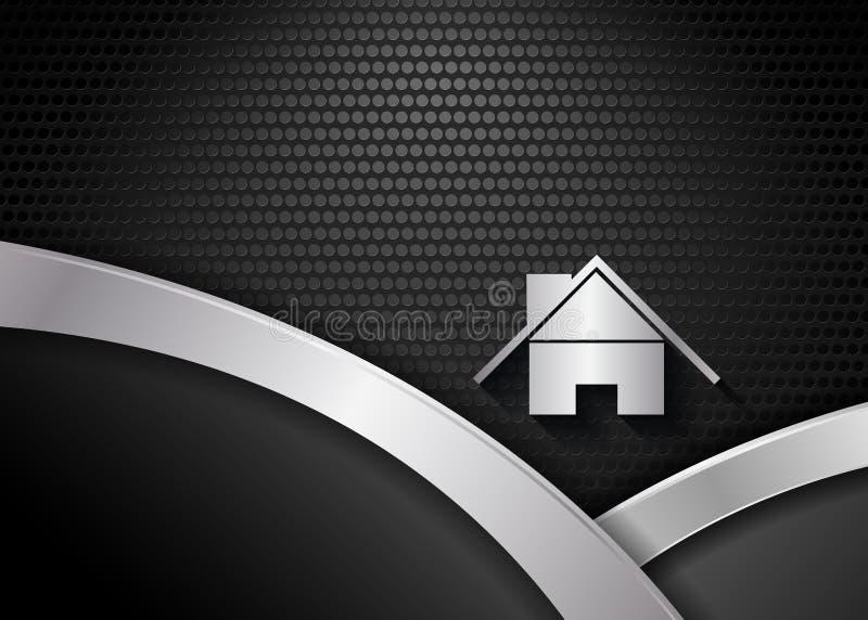 Vector background with metallic texture stock illustration