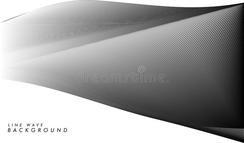 Vector modern abstract line wave background in eps 10 royalty free illustration