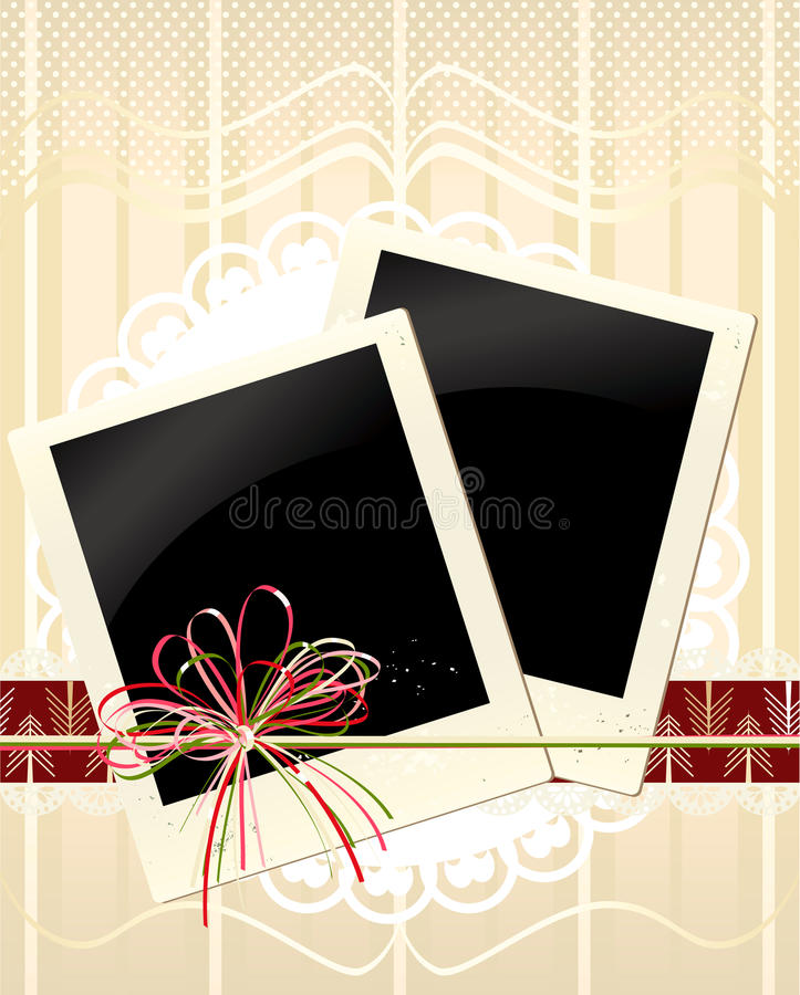 Download Vector Background With Old Photos Stock Vector - Image: 22021800