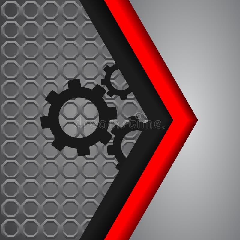 Vector background overlap dimension modern line bar design for t royalty free illustration