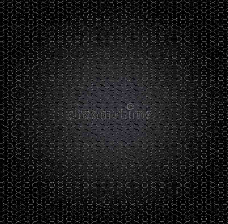 Vector background pattern of black honeycomb cells royalty free stock image