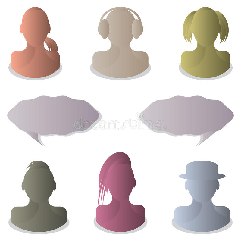 Vector Background With People Stock Image