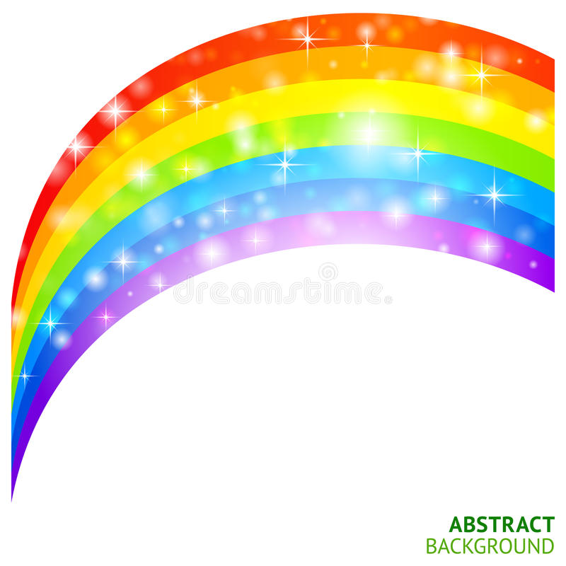 Download Vector Background With Rainbow And Lucky Clover Stock Vector - Image: 27628950
