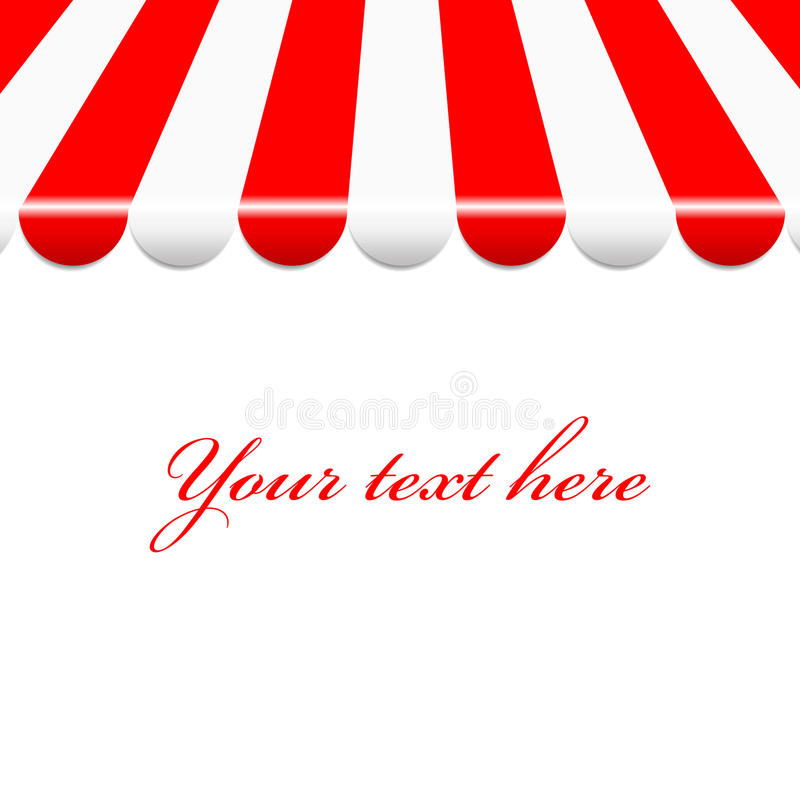 Background With Red And White Awning Stock Vector