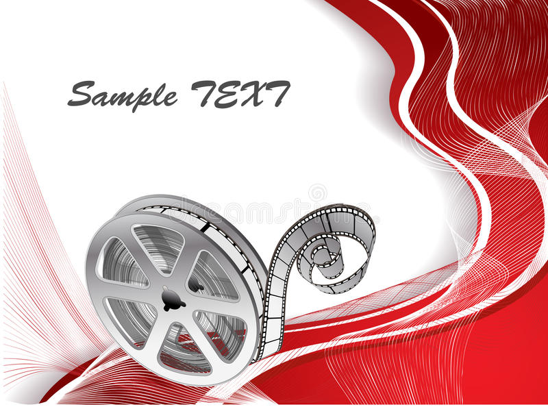 vector background with a reel of film vector illustration