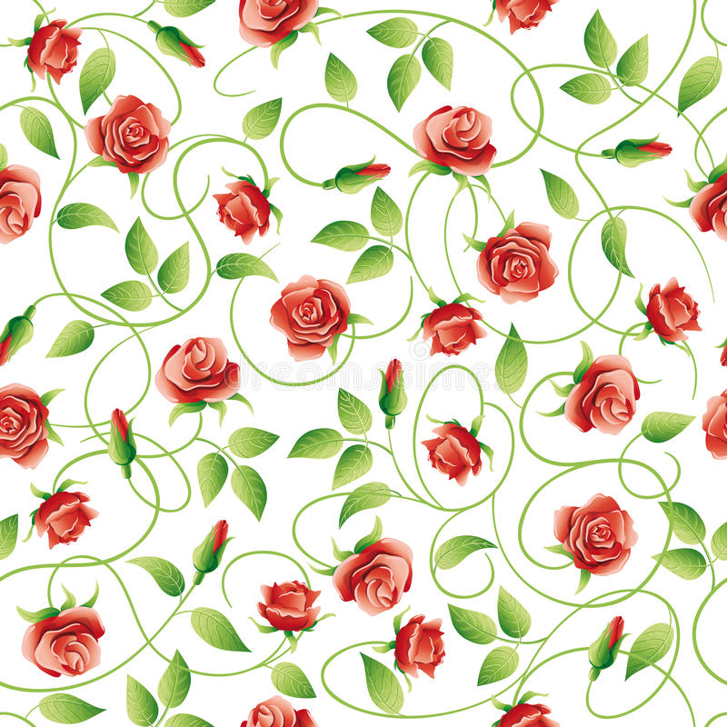 Vector background with roses. stock illustration