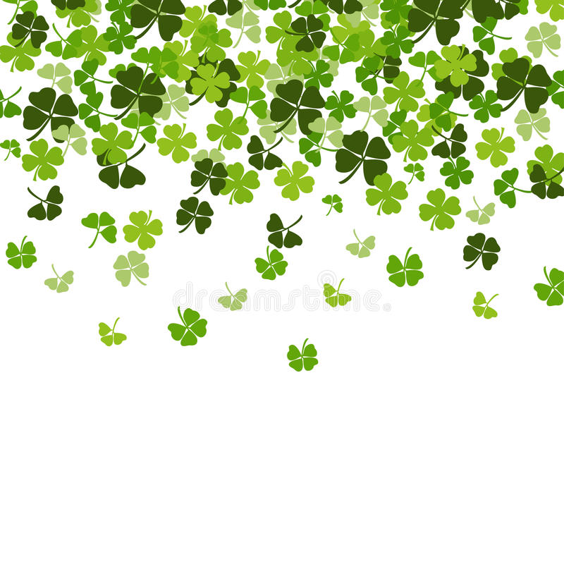 Vector background with shamrock stock illustration