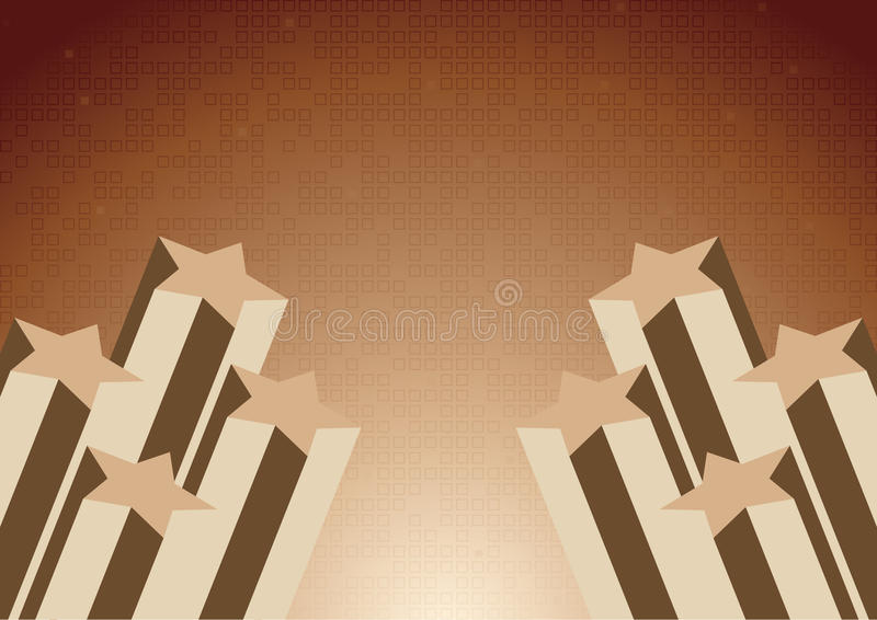 Vector Background With Star In Chocolate Color Stock Image