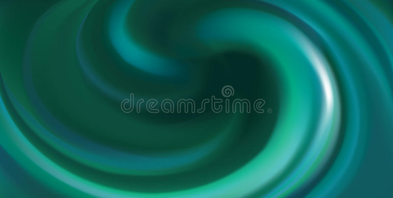 Vector background of swirling pink texture. Glossy wavy eddy aqua radial curvy fond with space for text in center. Fluid surface dark cool malachite color vector illustration