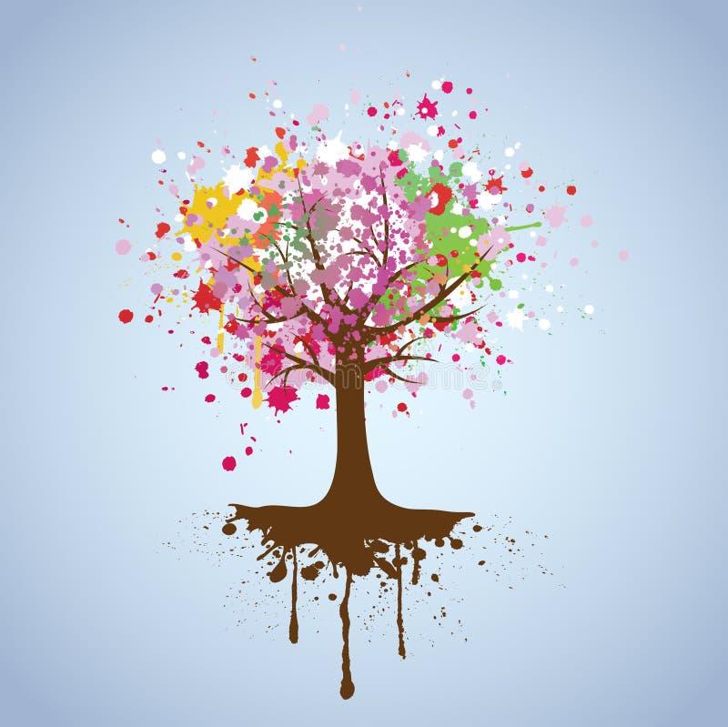 Download Vector background of tree stock vector. Illustration of orange - 19027132