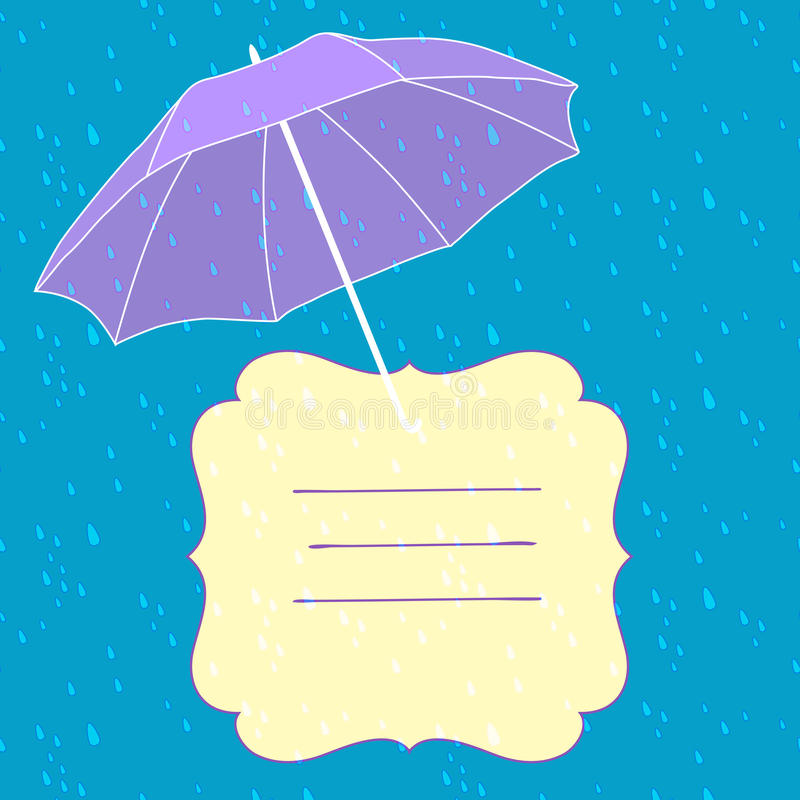 Download Vector Background With Umbrella Stock Vector - Image: 32545680