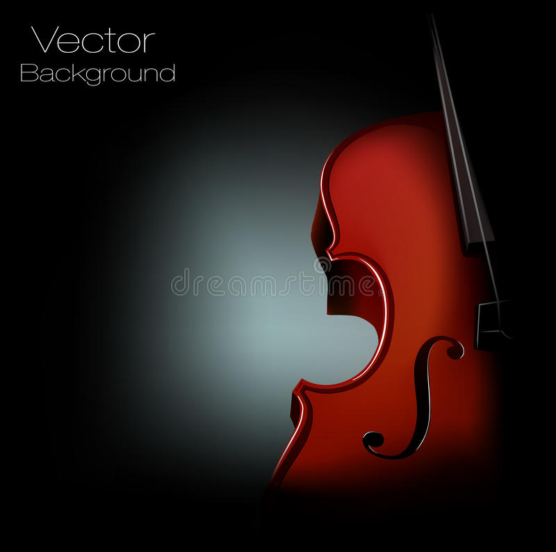 Vector Background Violin Stock Photography