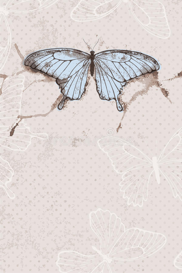 Download Vector Background With Watercolor Butterfly Stock Vector - Illustration of delicate, drawing: 34978089