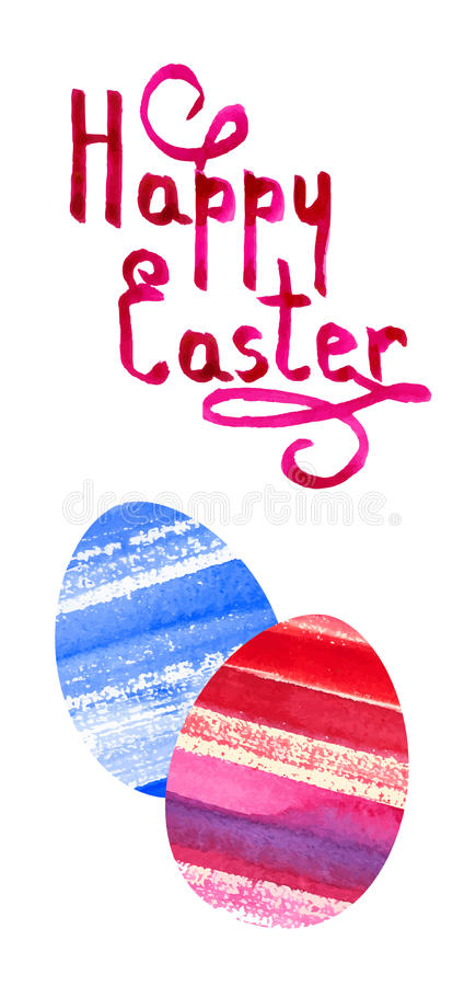 Vector background with watercolor eggs vector illustration