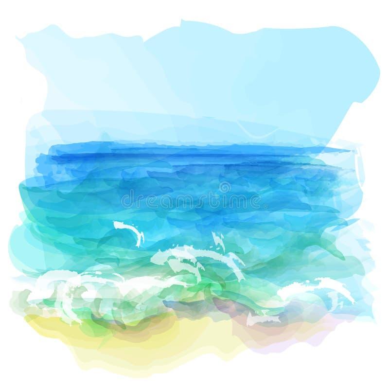 Vector background of watercolor landscape vector illustration