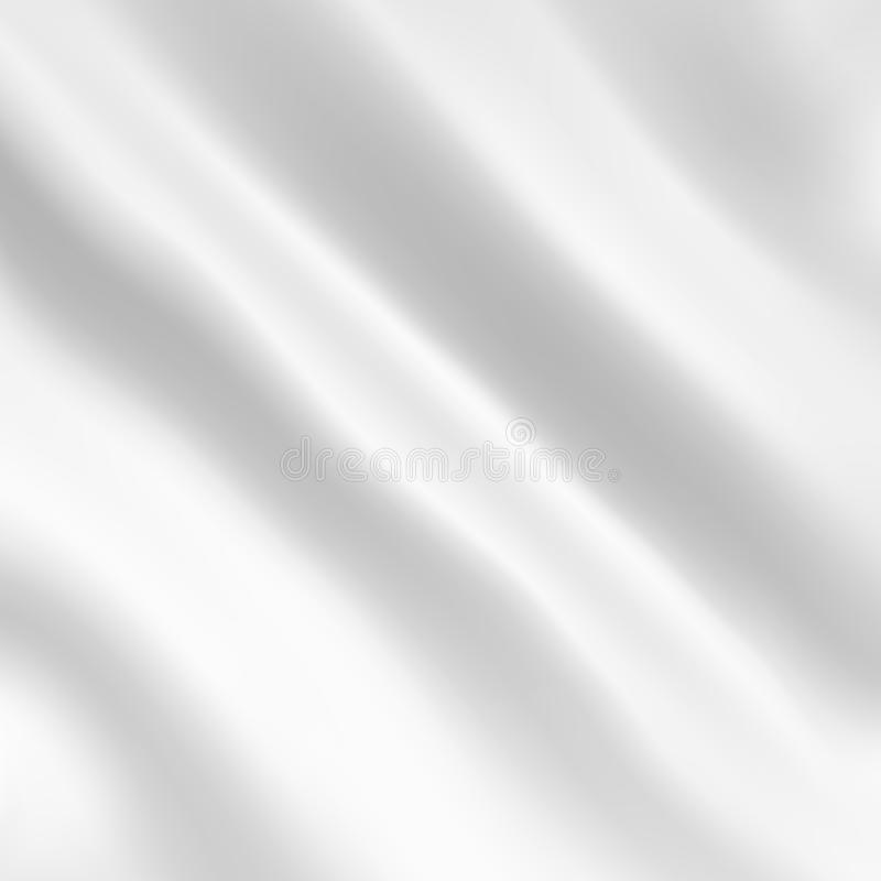 Vector background of white fabric with waves royalty free illustration