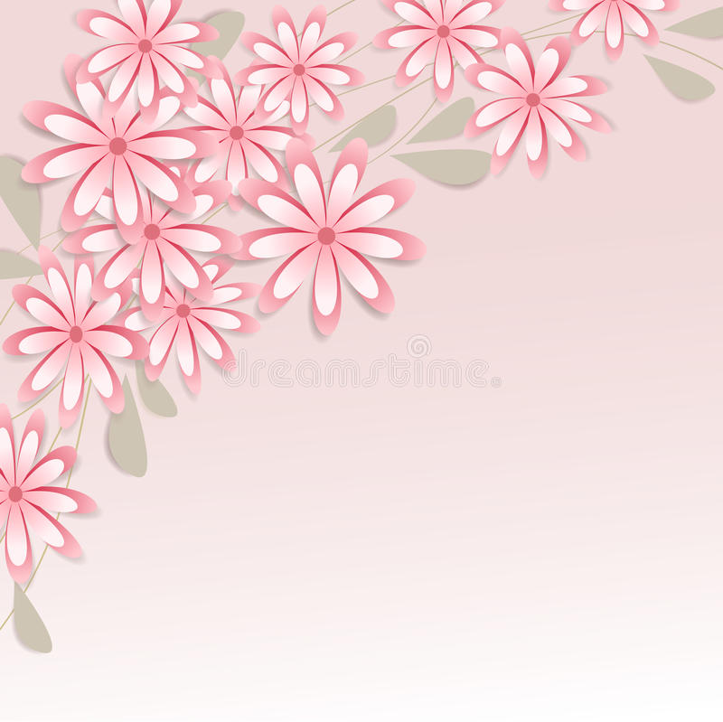 Free Vector Background With Flowers Stock Photo - 29969390