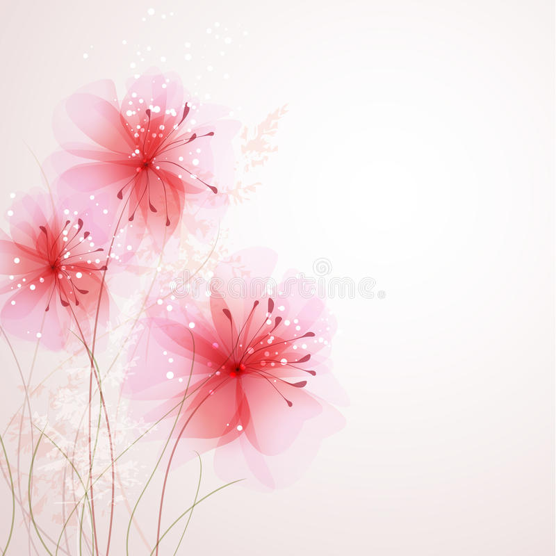 Free Vector Background With Flowers Stock Photography - 29969412