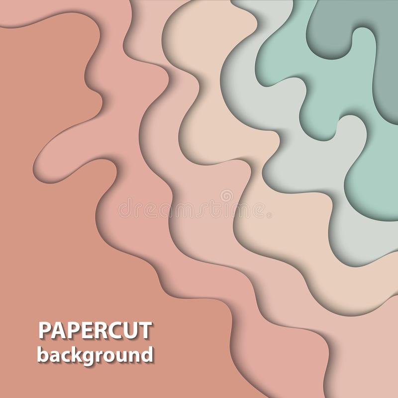Free Vector Background With Pastel Nude, Beige And Light Green Color Stock Photos - 119690763