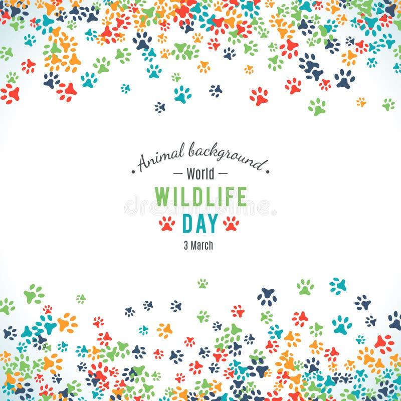 Vector background of world wildlife day vector illustration
