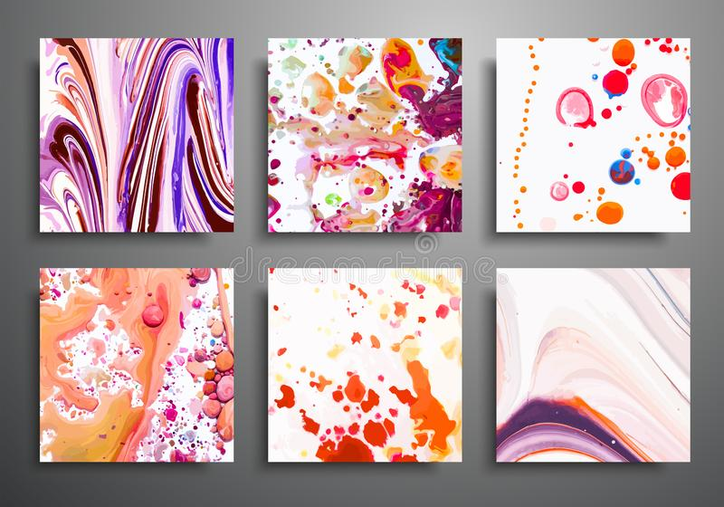 Vector backgrounds for covers, placards, posters, flyers and banner design. Illustration of colored acrylic banners royalty free illustration
