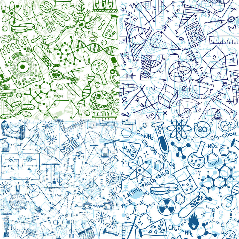 Vector Backgrounds - School, Study Royalty Free Stock Photo