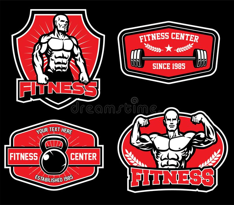 Badge design for gym fitness. Vector of badge design for gym fitness vector illustration