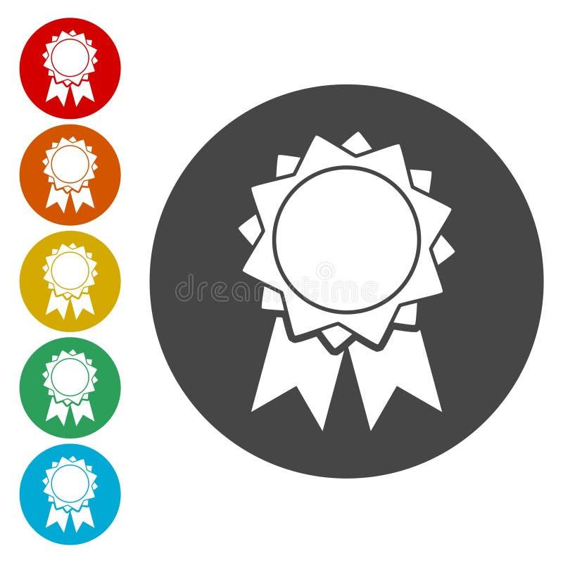 Vector badge icon royalty free illustration