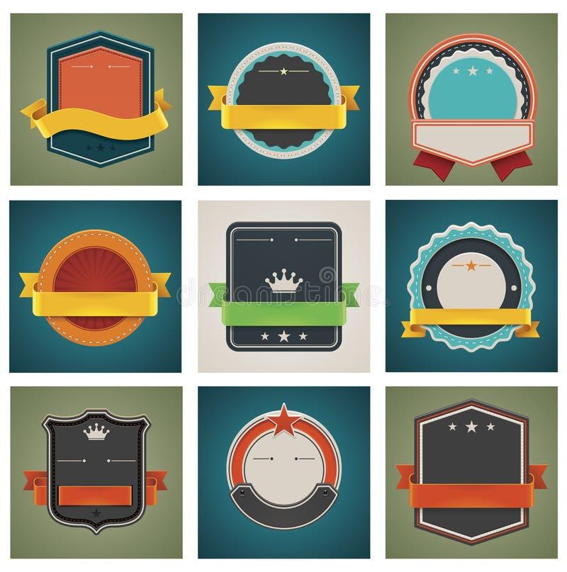 Download Vector badges set stock vector. Image of brown, illustration - 26387568