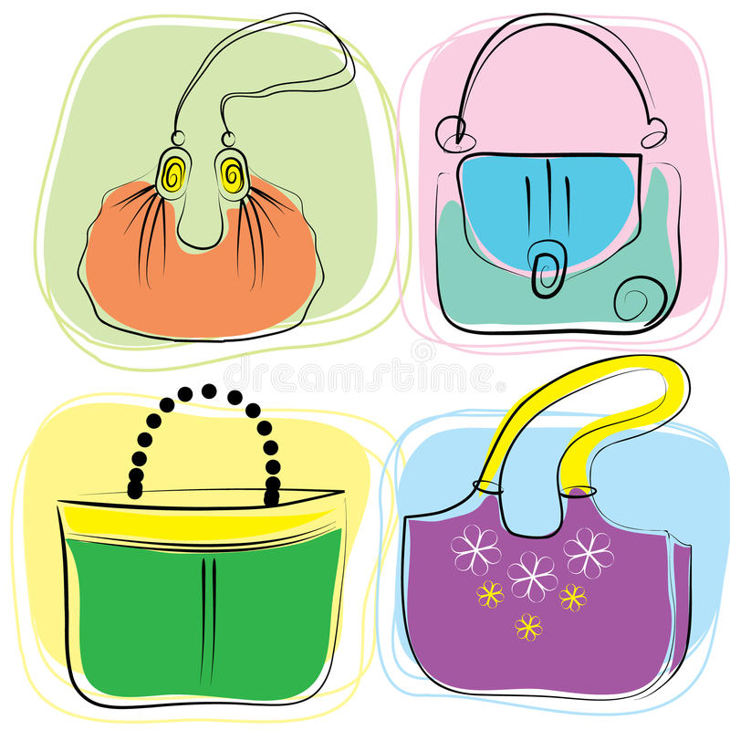 Vector bags royalty free stock photo
