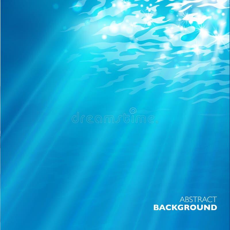 Vector bajo fondo del agua stock de ilustración