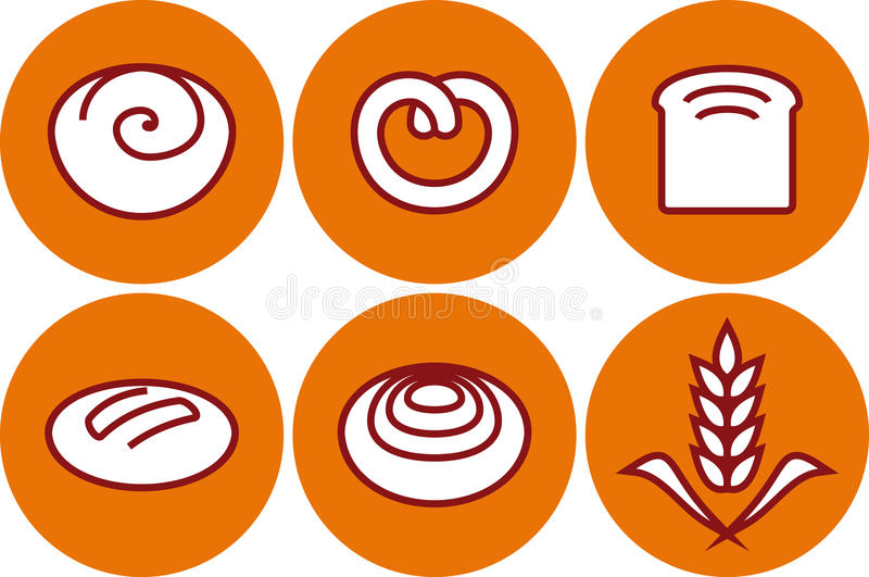 Download Vector Bakery Products Illustration - Pastry And B Stock Vector - Image: 19708662