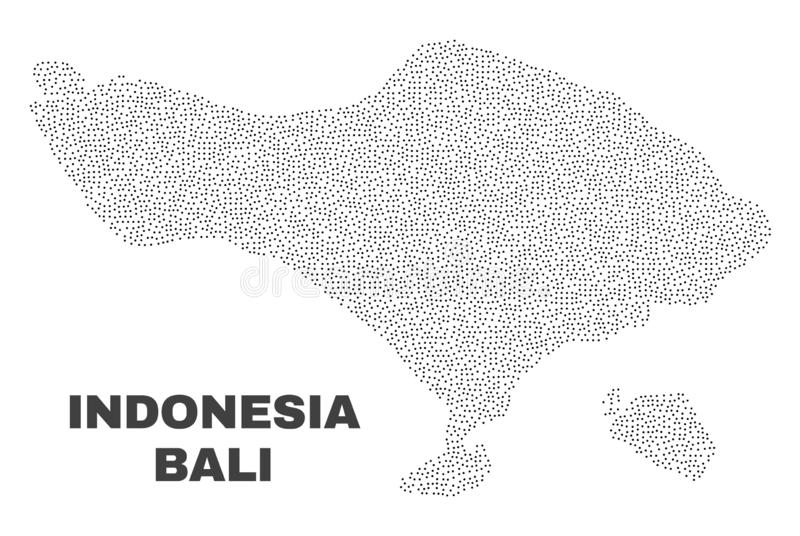 Vector Bali Map of Dots stock illustration