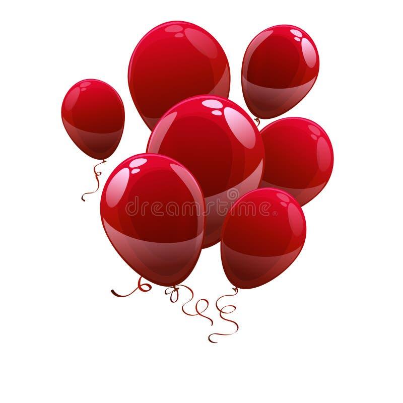 Vector balloons illustration royalty free illustration